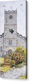 St Mary's Church Clock  Kirkby Lonsdale  Cumbria Acrylic Print by Sandra Moore