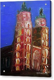Acrylic Print featuring the painting St. Mary's Church Kosciol Marjacki by Ania M Milo