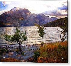 St. Mary's Lake 4 Acrylic Print by Marty Koch