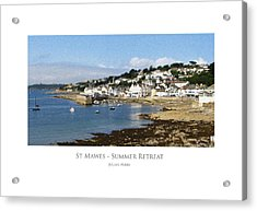 St Mawes - Summer Retreat Acrylic Print