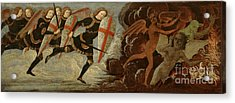 St. Michael And The Angels At War With The Devil Acrylic Print by Domenico Ghirlandaio
