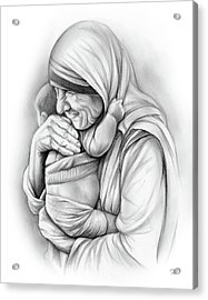 St Mother Teresa Acrylic Print