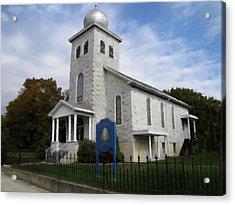 Acrylic Print featuring the photograph St Nicholas Church Saint Clair Pennsylvania by David Dehner