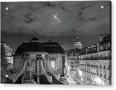 St Nicholas Du Chardonnet, Paris, At Night Acrylic Print