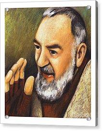 St. Padre Pio Of Pietrelcina - Jlpio Acrylic Print