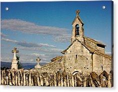 St. Pantaleon Church,  Luberon, France Acrylic Print
