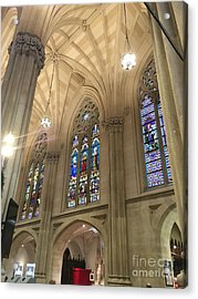 St. Patricks Cathedral Interior Acrylic Print