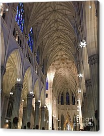 St. Patricks Cathedral Main Interior Acrylic Print