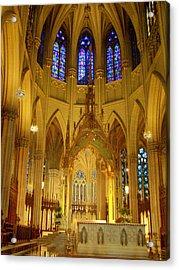 St Patricks Cathedral New York Acrylic Print by Vijay Sharon Govender