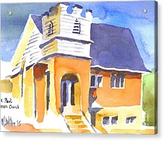 Acrylic Print featuring the painting St. Paul Lutheran 3 Impressions by Kip DeVore