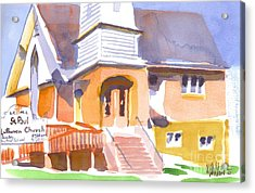 Acrylic Print featuring the painting St. Paul Lutheran Ironton Missouri by Kip DeVore