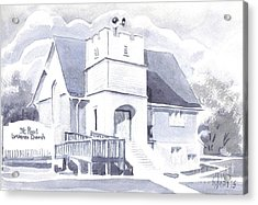 Acrylic Print featuring the painting St. Paul Lutheran Church 2 by Kip DeVore