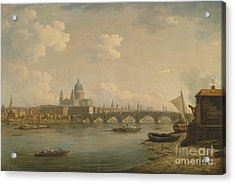 St Paul's And Blackfriars Bridge Acrylic Print by Celestial Images