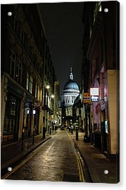 St. Pauls By Night Acrylic Print