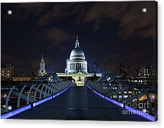 St Paul's Cathedral And The Millennium Bridge Acrylic Print