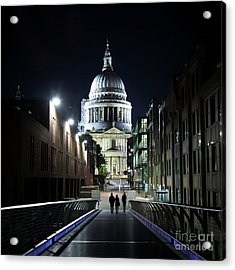 St Paul's Cathedral At Night Acrylic Print