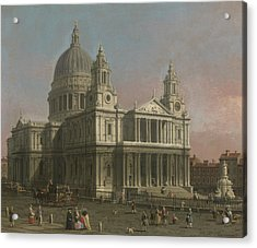 St. Paul's Cathedral Acrylic Print by Giovanni Antonio Canaletto