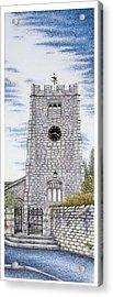 St Paul's Church Clock Acrylic Print by Sandra Moore