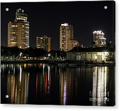 St. Pete At Night Acrylic Print