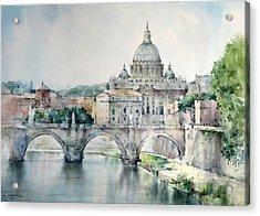 St. Peter Basilica - Rome - Italy Acrylic Print by Natalia Eremeyeva Duarte