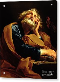 St Peter Acrylic Print by Pompeo Girolamo Batoni