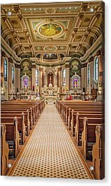 Acrylic Print featuring the photograph St Peter The Apostle Church Pa by Susan Candelario