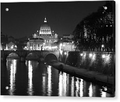 St. Peters At Night Acrylic Print by Donna Corless