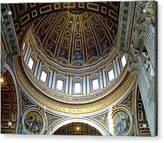 St. Peters Basilica Dome Acrylic Print