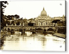 Acrylic Print featuring the photograph St. Peters Basilica by Mircea Costina Photography