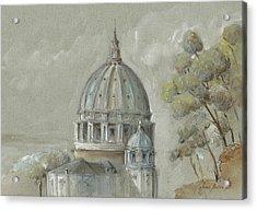St Peter's Basilica Rome Acrylic Print by Juan Bosco