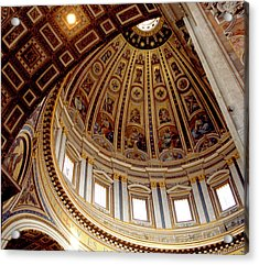 St Peters Looking Up Acrylic Print by Martin Sugg