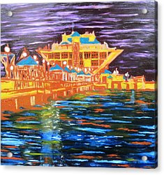 St Petersberg Pier Acrylic Print by Alfredo Dane Llana