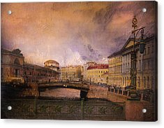 Acrylic Print featuring the photograph St Petersburg Canal by Jeff Burgess