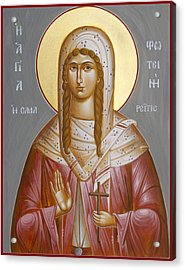St Photini - The Samaritan Woman Acrylic Print by Julia Bridget Hayes