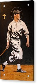 St. Sebastian Patron Of Athletes Acrylic Print by Ralph LeCompte