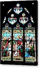 St. Severin Chuch Stain Glass Acrylic Print by Loriannah Hespe