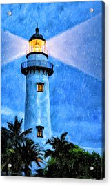 Lights On For You At St. Simons Acrylic Print