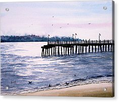 St. Simons Island Fishing Pier Acrylic Print