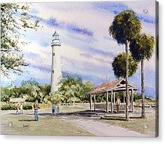 St. Simons Island Lighthouse Acrylic Print by Sam Sidders