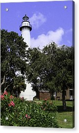 St Simons Isle Lighthouse Acrylic Print by Elizabeth Eldridge