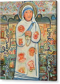 St. Teresa Of Kolkata Acrylic Print
