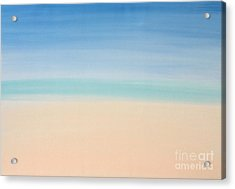 St Thomas #2 Seascape Landscape Original Fine Art Acrylic On Canvas Acrylic Print