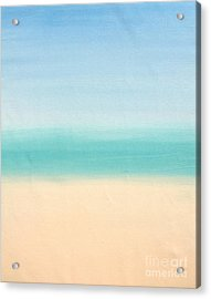 St Thomas #3 Seascape Landscape Original Fine Art Acrylic On Canvas Acrylic Print