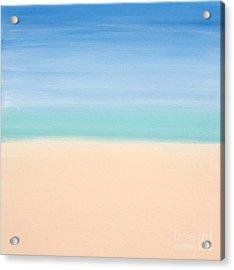 St Thomas #4 Seascape Landscape Original Fine Art Acrylic On Canvas Acrylic Print