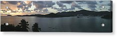 St. Thomas At Dusk Acrylic Print by Gary Lobdell