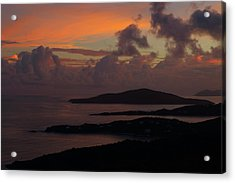 Acrylic Print featuring the photograph St Thomas Sunset At The U.s. Virgin Islands by Jetson Nguyen