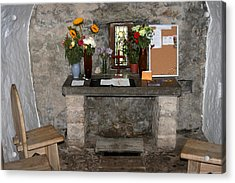 St. Trillo's Chapel - North Wales - Interior Acrylic Print