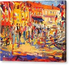 St Tropez Promenade Acrylic Print by Peter Graham