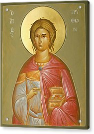 St Tryphon Acrylic Print by Julia Bridget Hayes