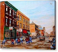 St. Viateur Bagel Hockey Game Acrylic Print